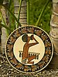 Stock Photo : Palm Pictures: Polynesian handicraft shield of native by palms
