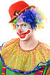 Stock Photo : Performance Theatrical Stock Image: Portrait Of A Clown.