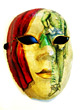 Red & Yellow Decorative Mask