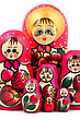 Russian Dolls. Isolated On A White Background stock image