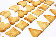 Stock Photo : Crackers Pictures: Salty Crackers Of The Various Geometrical Form Lie