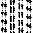 Seamless Pattern With Silhouettes Of The Person Of Different Color.(can Be Repeated And Scaled In Any Size)