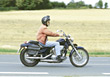 Stock Photo : Retiring Pictures: Senior Riding a Motorcycle