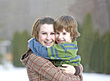 Smiling Sister Brother - stock image
