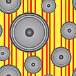 Speakers Seamless Background. Vector Illustration.