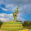 Oriental Stock Photo: Statue Of Asian Dragon On The Cloudy Sky Background