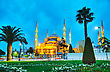 Sultan Ahmed Mosque (Blue Mosque) In Istanbul In The Morning stock photography