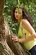 Summer - Beautiful Female Outdoors In The Park stock photography