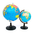 America Two Globes stock photo
