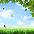 Under The Blue Skies. Abstract Spring And Summer Backgrounds stock image