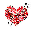 Valentine's Day Card Floral Heart Shape stock photography
