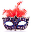 Venetian Carnival Mask Isolated On White Background Cutout stock photo
