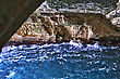 North White Chalk Cliffs And Underground Grottoes Rosh Hanikra stock photo