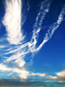 Fluffy Wispy Clouds stock photography